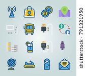 icon set about travel. with...   Shutterstock .eps vector #791321950