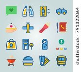 icon set about travel. with... | Shutterstock .eps vector #791322064
