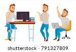 business character. working...   Shutterstock . vector #791327809