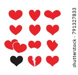 red love vector design ... | Shutterstock .eps vector #791327833