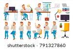 business character. working... | Shutterstock . vector #791327860