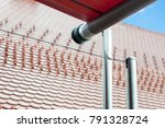 roof with sunshade | Shutterstock . vector #791328724