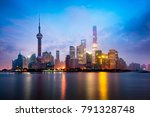 shanghai foggy morning ... | Shutterstock . vector #791328748
