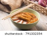 hot and spicy malaysian curry... | Shutterstock . vector #791332354