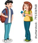 cute cartoon children with...   Shutterstock .eps vector #791336968