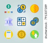 icon set about currency. with... | Shutterstock .eps vector #791337289