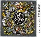 cartoon vector doodles electric ... | Shutterstock .eps vector #791343106