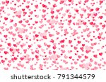seamless pattern with falling... | Shutterstock . vector #791344579