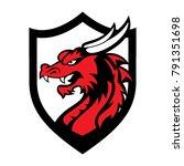 dragon logo icon   Shutterstock .eps vector #791351698