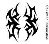 tattoo art tribal vector design.... | Shutterstock .eps vector #791354179
