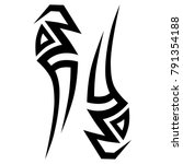 tattoo tribal vector design.... | Shutterstock .eps vector #791354188