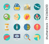 icon set about medical. with... | Shutterstock .eps vector #791360650