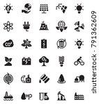 energy icons set | Shutterstock .eps vector #791362609