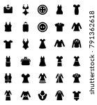 clothing icons set | Shutterstock .eps vector #791362618