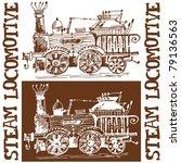 sketchy steam locomotive... | Shutterstock . vector #79136563