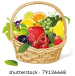 apple,background,basket,blackberry,blueberry,brown,carrying,cherry,close,closeup,container,craft,cranberry,decorative,diet