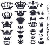 set of vector monarchy qeen... | Shutterstock .eps vector #791368444