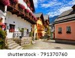 hallstatt ancient european town ...   Shutterstock . vector #791370760