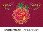 happy pongal background vector... | Shutterstock .eps vector #791371054