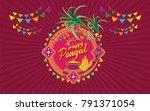 happy pongal background vector... | Shutterstock .eps vector #791371054