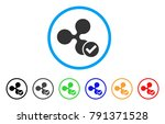ripple valid rounded icon.... | Shutterstock .eps vector #791371528
