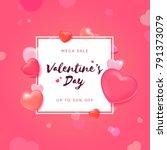 valentine's day sale background ... | Shutterstock .eps vector #791373079