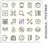 matherial design line icons set ... | Shutterstock .eps vector #791378830