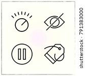 matherial design line icons set ... | Shutterstock .eps vector #791383000