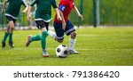 football match for young... | Shutterstock . vector #791386420