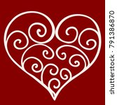 heart shape for love symbols.... | Shutterstock .eps vector #791386870