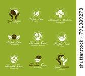 homeopathy creative symbols...   Shutterstock .eps vector #791389273