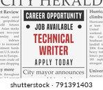 technical writer career   job...   Shutterstock .eps vector #791391403