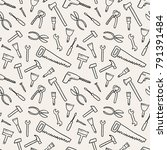 tools texture   seamless...   Shutterstock .eps vector #791391484