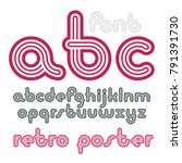 vector lowercase funky disco... | Shutterstock .eps vector #791391730