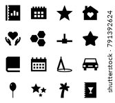 origami style icon set   annual ... | Shutterstock .eps vector #791392624