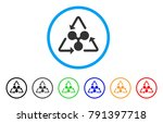 ripple recycling rounded icon.... | Shutterstock .eps vector #791397718