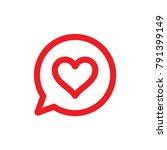 heart icon in bubble dialog ... | Shutterstock .eps vector #791399149
