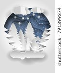 creative winter forest with... | Shutterstock . vector #791399374