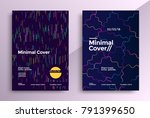 minimal covers design with... | Shutterstock .eps vector #791399650