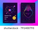 valentines day poster or flyer... | Shutterstock .eps vector #791400793