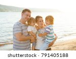 happy family mother  father and ...   Shutterstock . vector #791405188