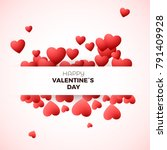 happy valentine s day greeting...   Shutterstock .eps vector #791409928