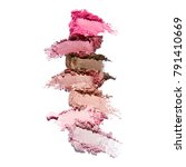 collection of makeup blush... | Shutterstock . vector #791410669