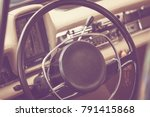 interior of a classic vintage... | Shutterstock . vector #791415868