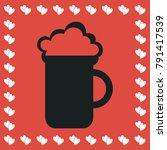 beer icon flat. simple black...