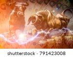 bull market investment chance... | Shutterstock . vector #791423008