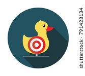 duck shoot. flat style icon | Shutterstock .eps vector #791423134