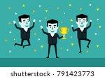 victory celebration ...   Shutterstock .eps vector #791423773