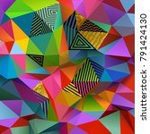 abstract colorful low poly...   Shutterstock .eps vector #791424130