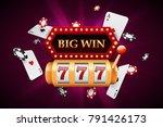 slot machine and big win banner ...   Shutterstock .eps vector #791426173